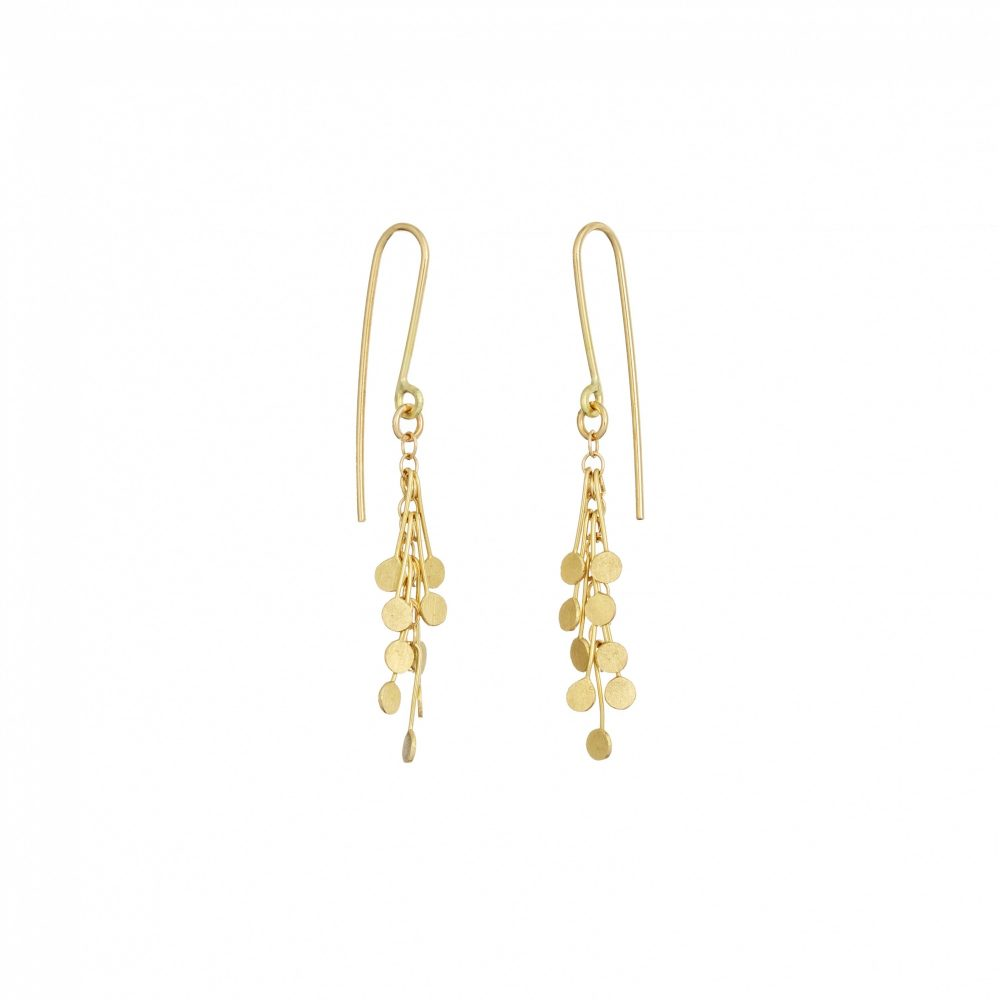 Sia Taylor DE24 Y Yellow Gold Dot Earrings WB