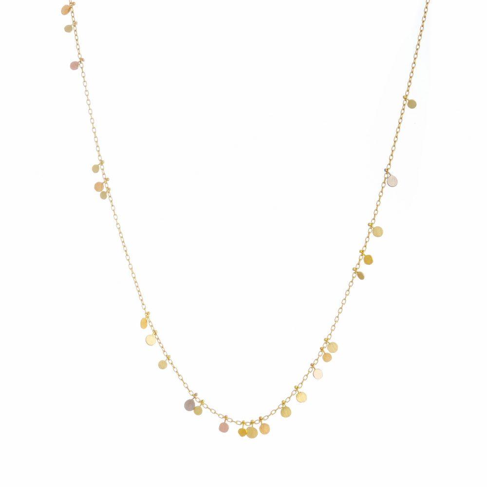 Sia Taylor DN220 YRAIN Rainbow Gold Random Dots Necklace WB