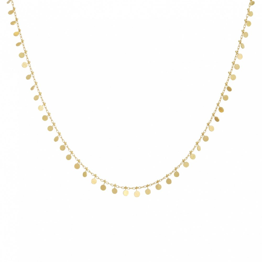 Sia Taylor DN301 Y Yellow Gold Evenly Dotted Necklace WB