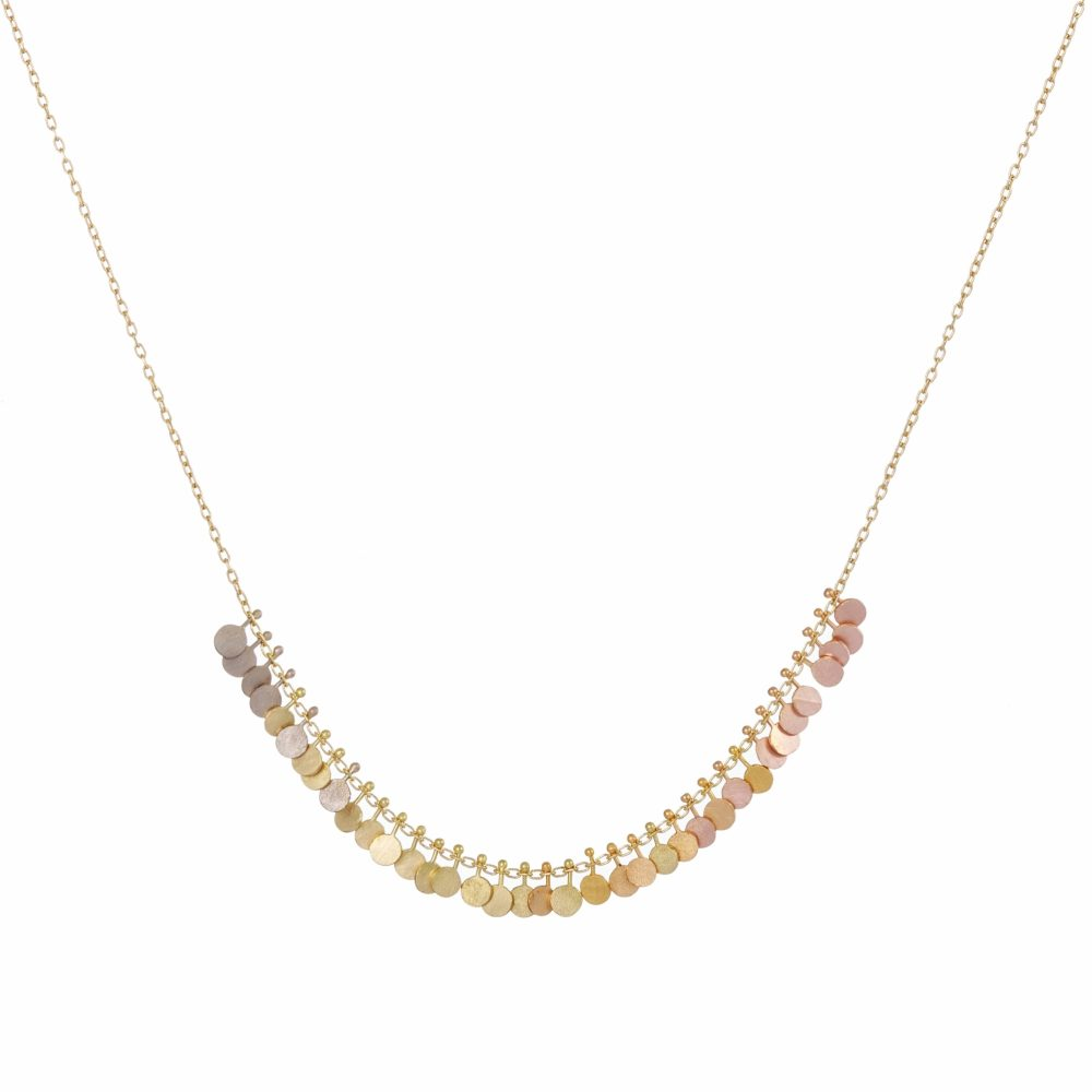 Sia Taylor DN355 Y Rainbow Gold Tiny Dots Arc Necklace WB