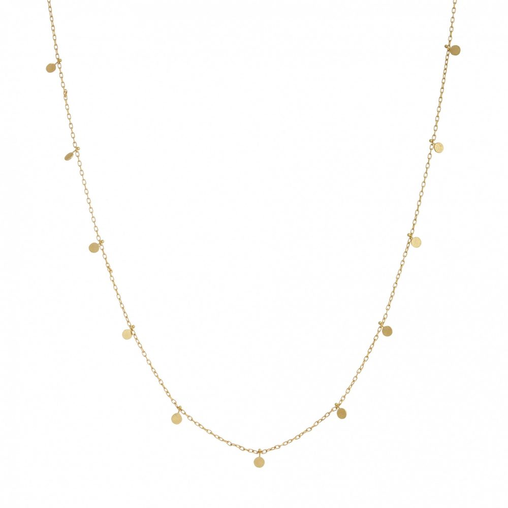 Sia Taylor DN87 Y Even Yellow Gold Dots Necklace WB