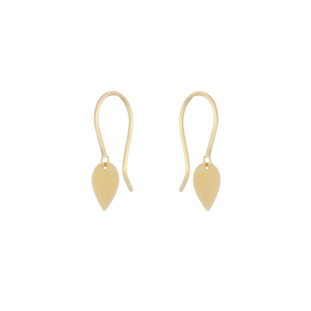 Sia Taylor KE11 Y Yellow Gold Tiny Petal Earrings WB