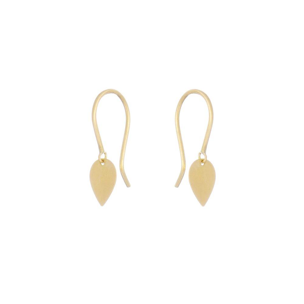 Sia Taylor KE11 Y Yellow Gold Tiny Petal Earrings WB