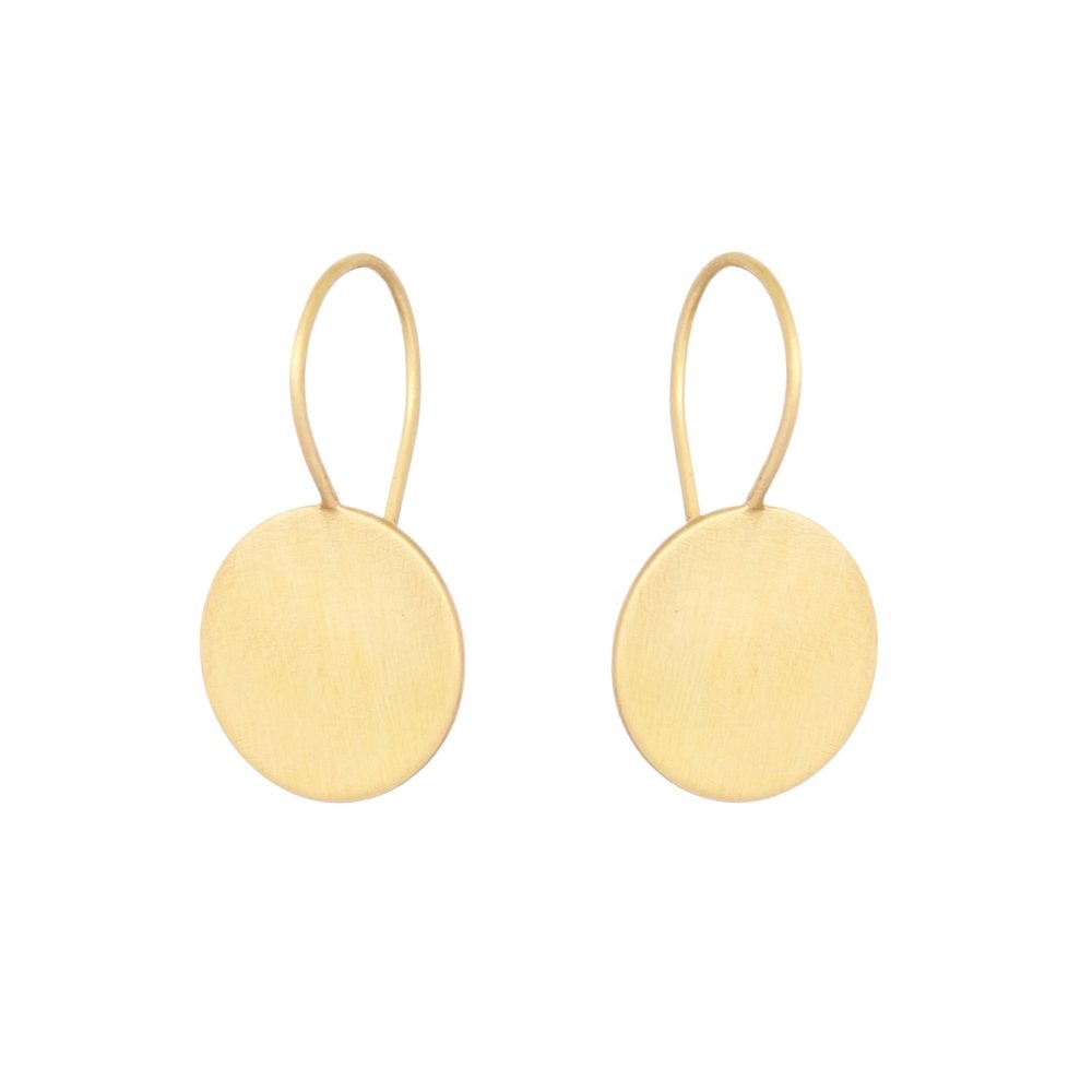 Sia Taylor KE14 Y Yellow Gold 12mm Moon Drop Earring WB