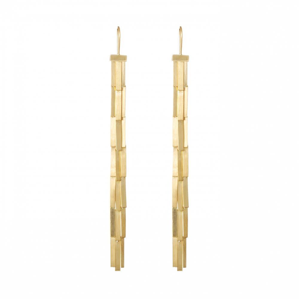 Sia Taylor KE1 Y Yellow Gold Rain Earring WB
