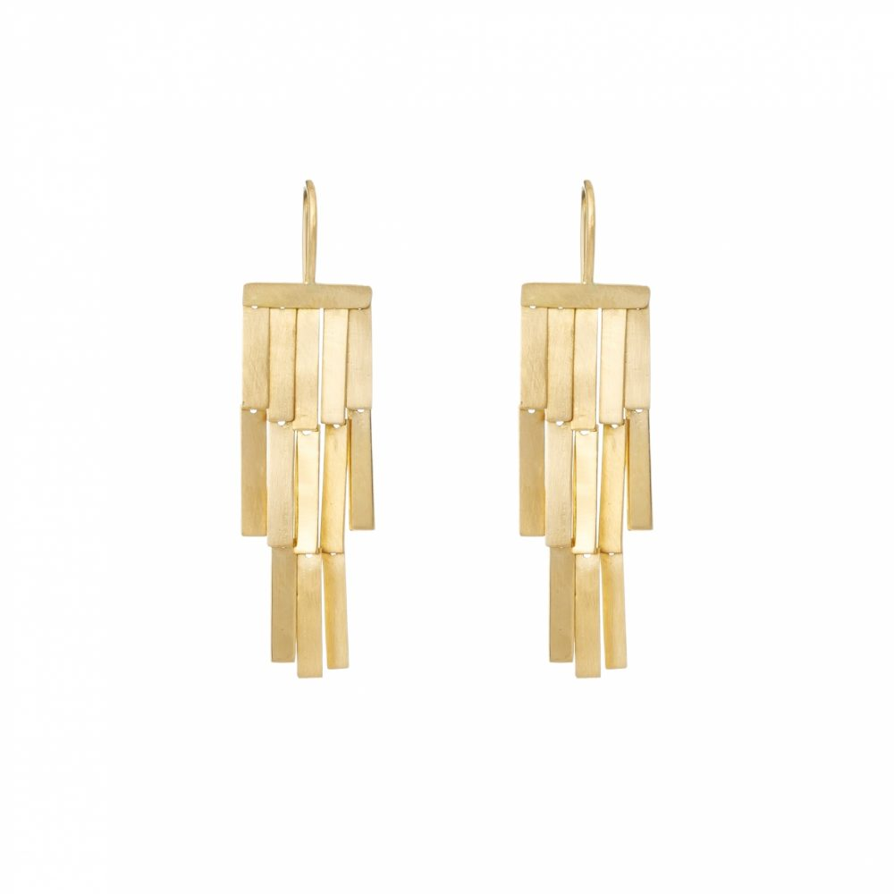 Sia Taylor KE2 Y Yellow Gold Rainfall Earring WB