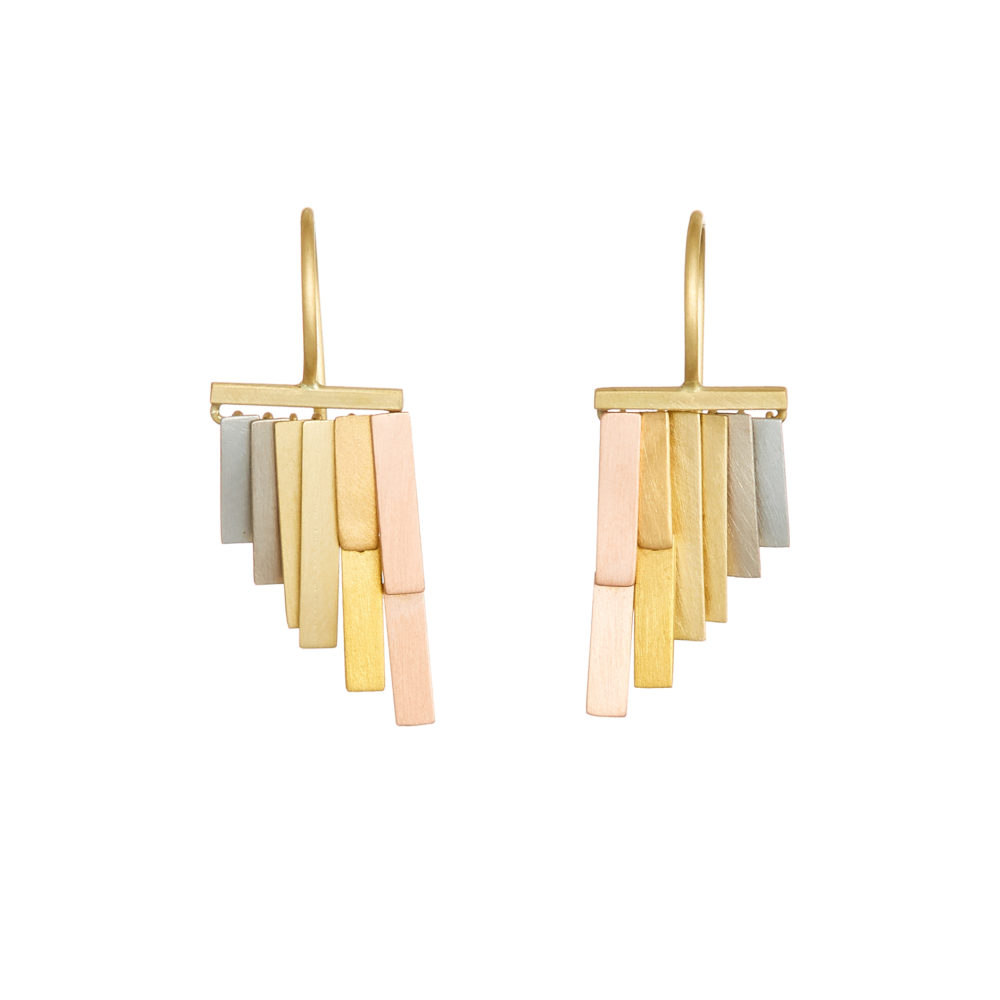 Sia Taylor KE33 RAIN Rainbow Gold Tiny Rainfall Earrings W