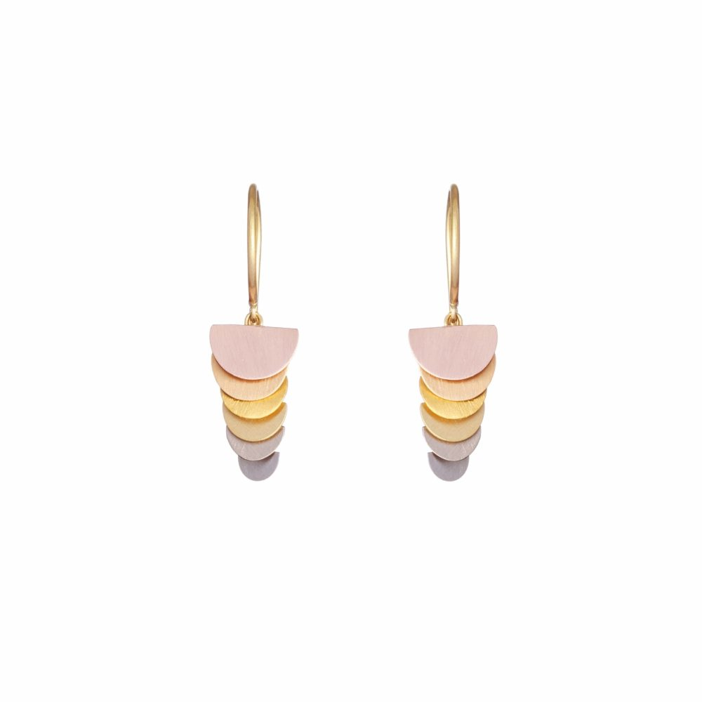 Sia Taylor KE42 RAIN Rainbow Gold Tiny Sunrise Earring WB