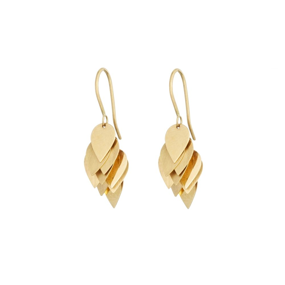 Sia Taylor KE4 Y Yellow Gold Petal Cluster Earrings WB