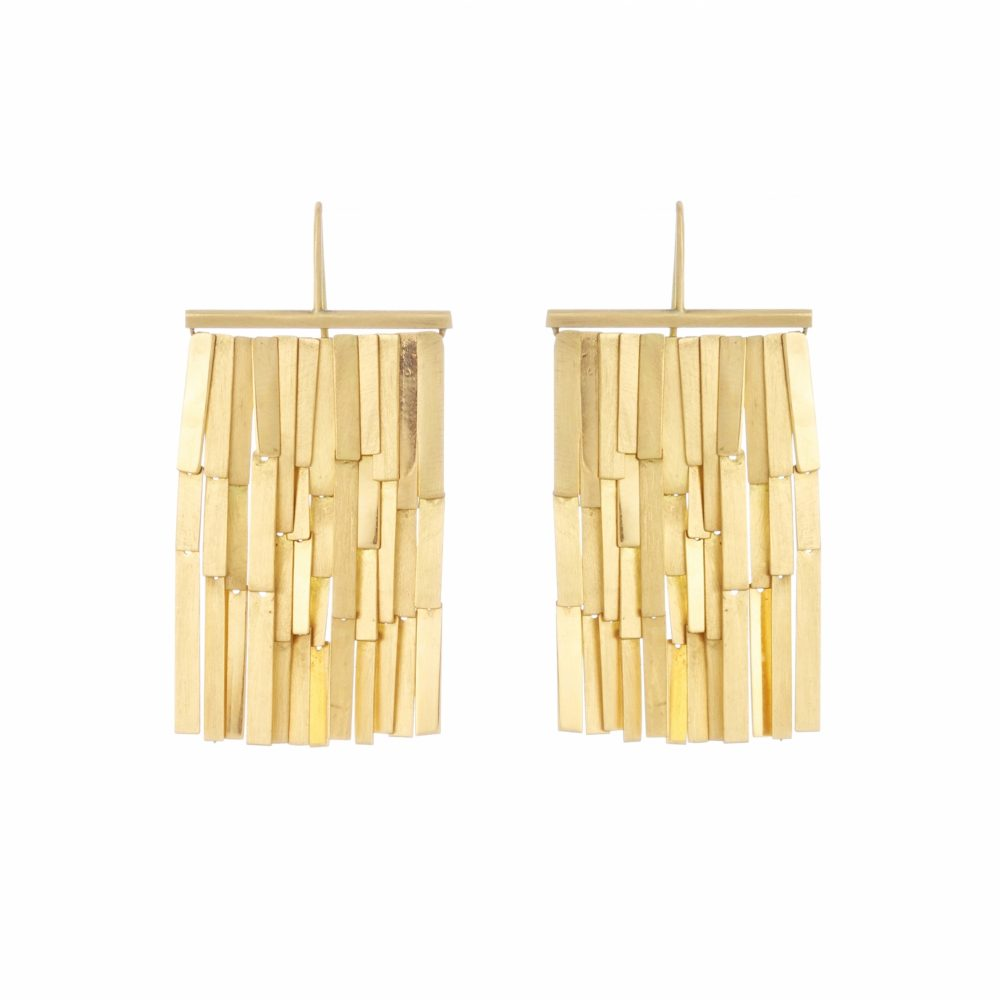Sia Taylor KE9 Y Yellow Gold Rainfall Earring WB