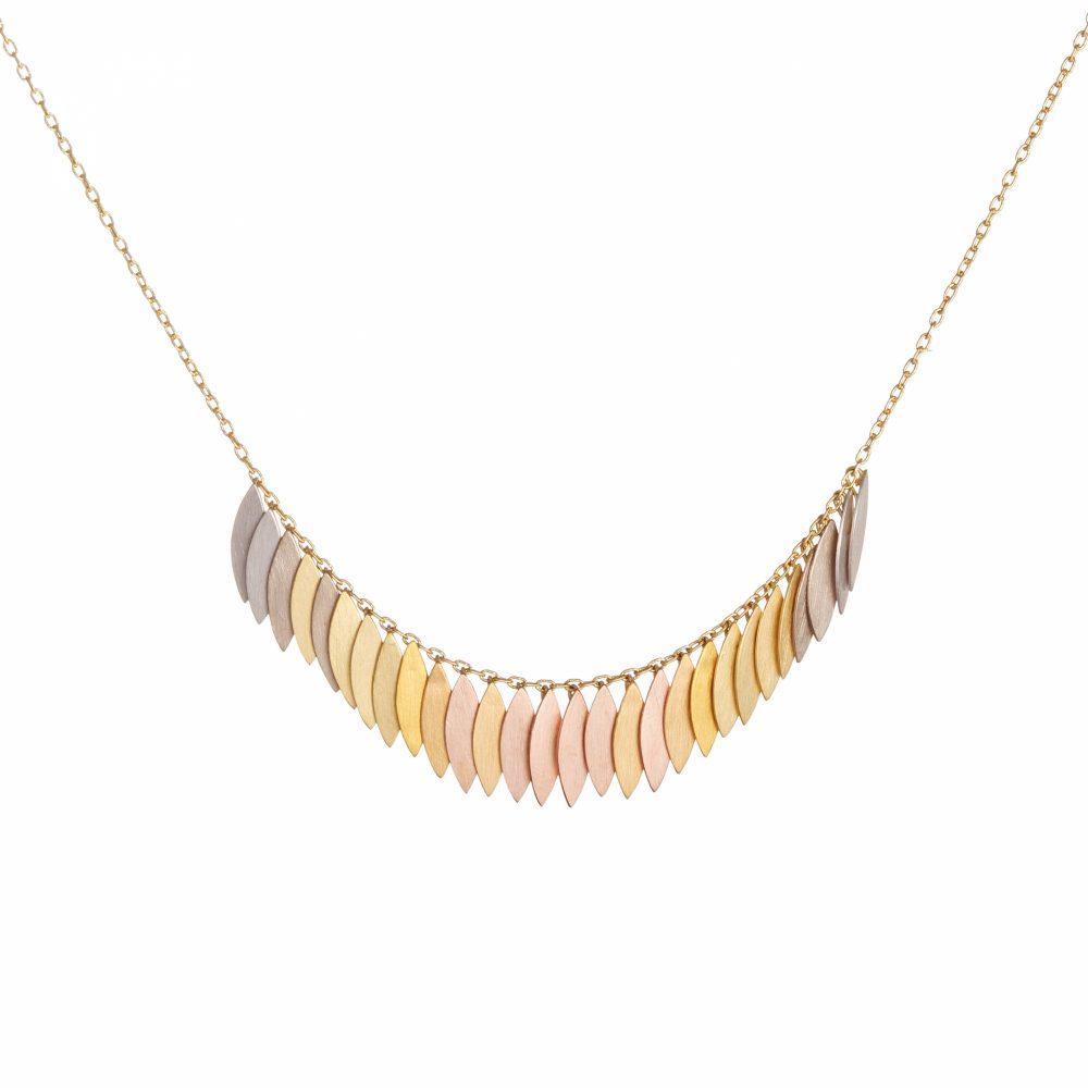 Sia Taylor KN27 RAIN Rainbow Leaf Arc Necklace WB