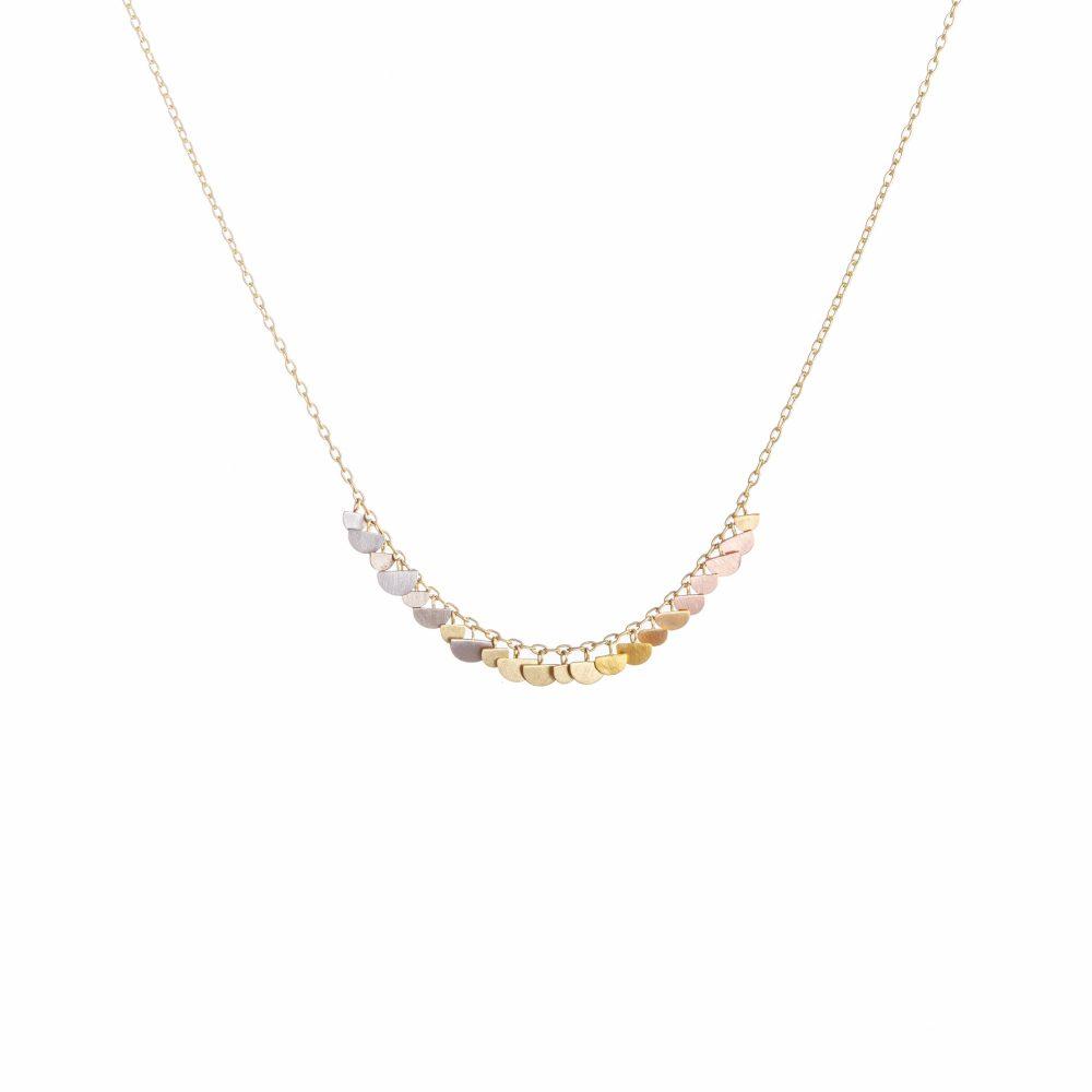 Sia Taylor KN30 RAIN Rainbow Gold Sunrise Arc Necklace WB