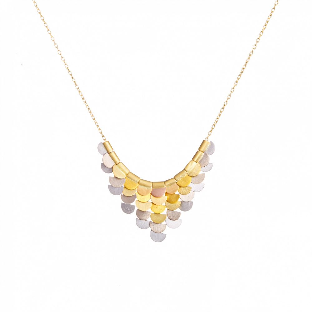 Sia Taylor KN33 RAIN Rainbow Gold Sunrise Necklace WB