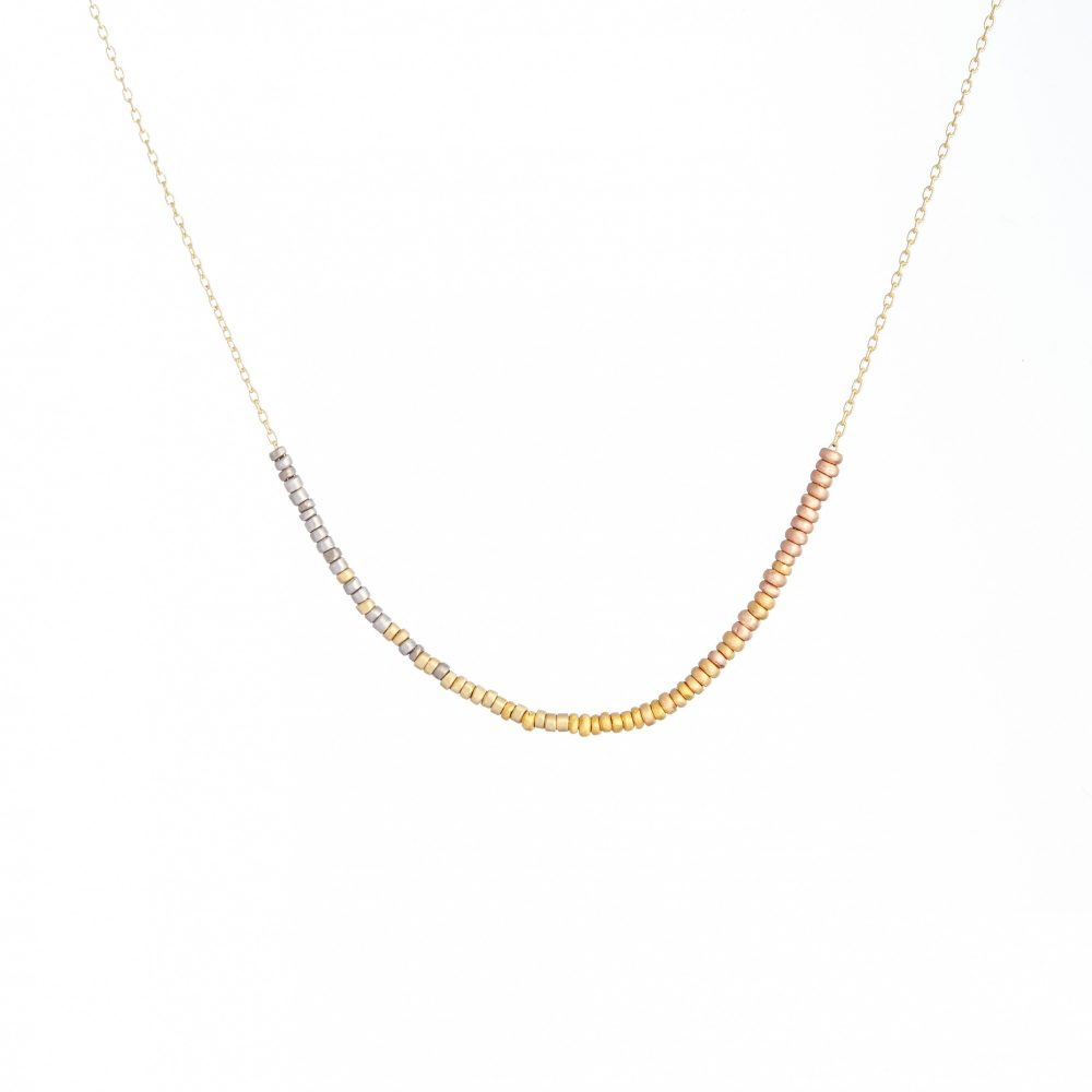 Sia Taylor KN7 Y Tiny Bead Rainbow Golds Arc Necklace WB