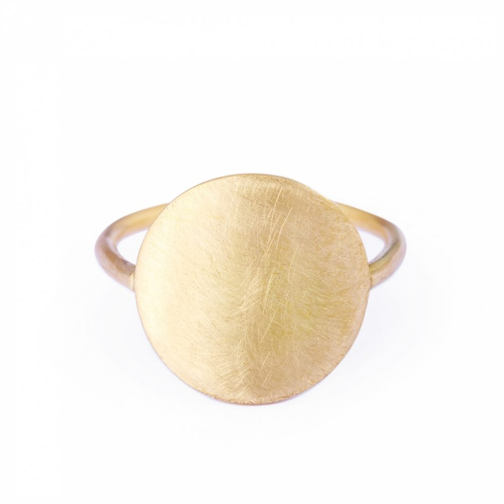 Sia Taylor KR3 Y Yellow Gold 12mm Moon Ring WB