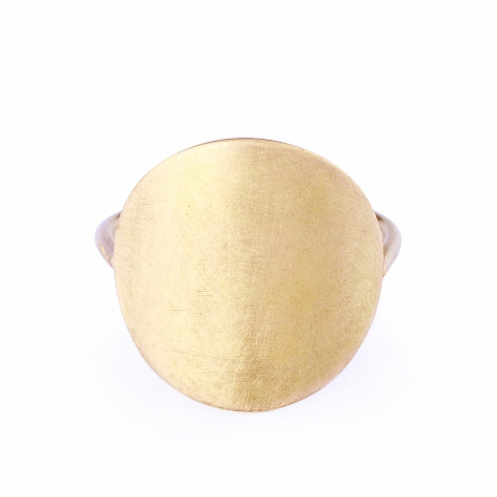 Sia Taylor KR5 Y Yellow Gold 18mm Moon Ring WB