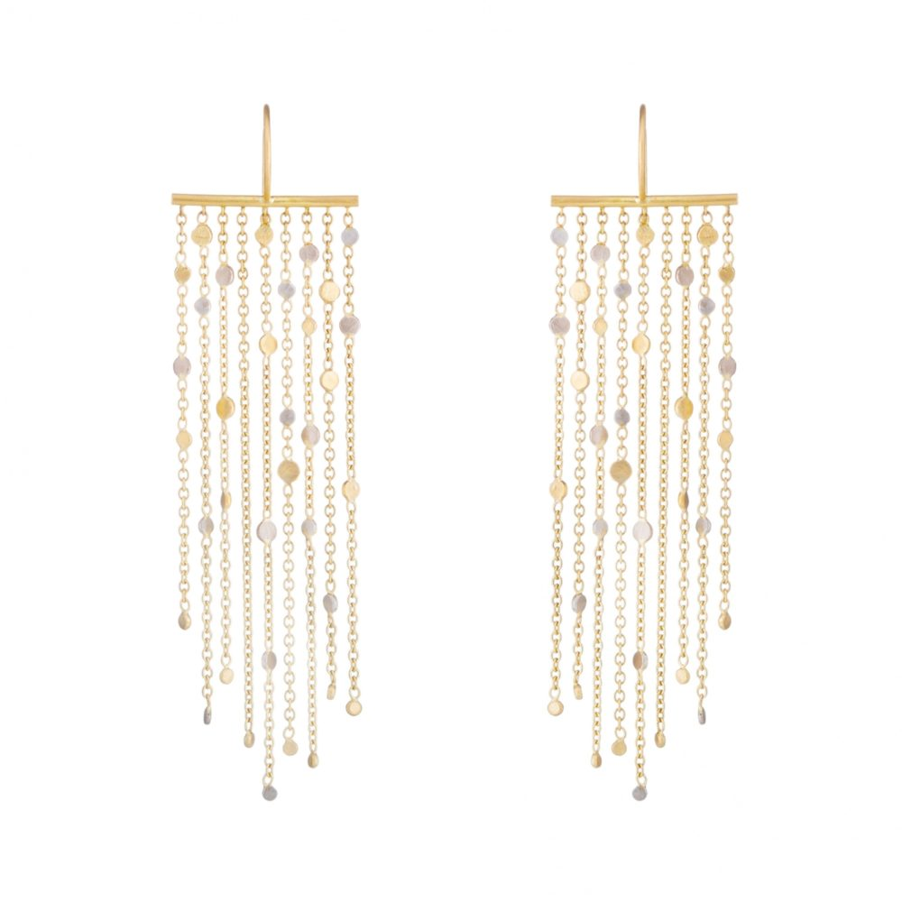 Sia Taylor SE1 YWP Gold Platinum Falling Dust Earring WB