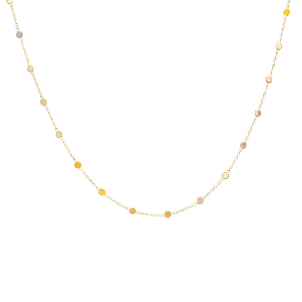 Sia Taylor SN3 RAIN Rainbow Gold Dust Necklace WB
