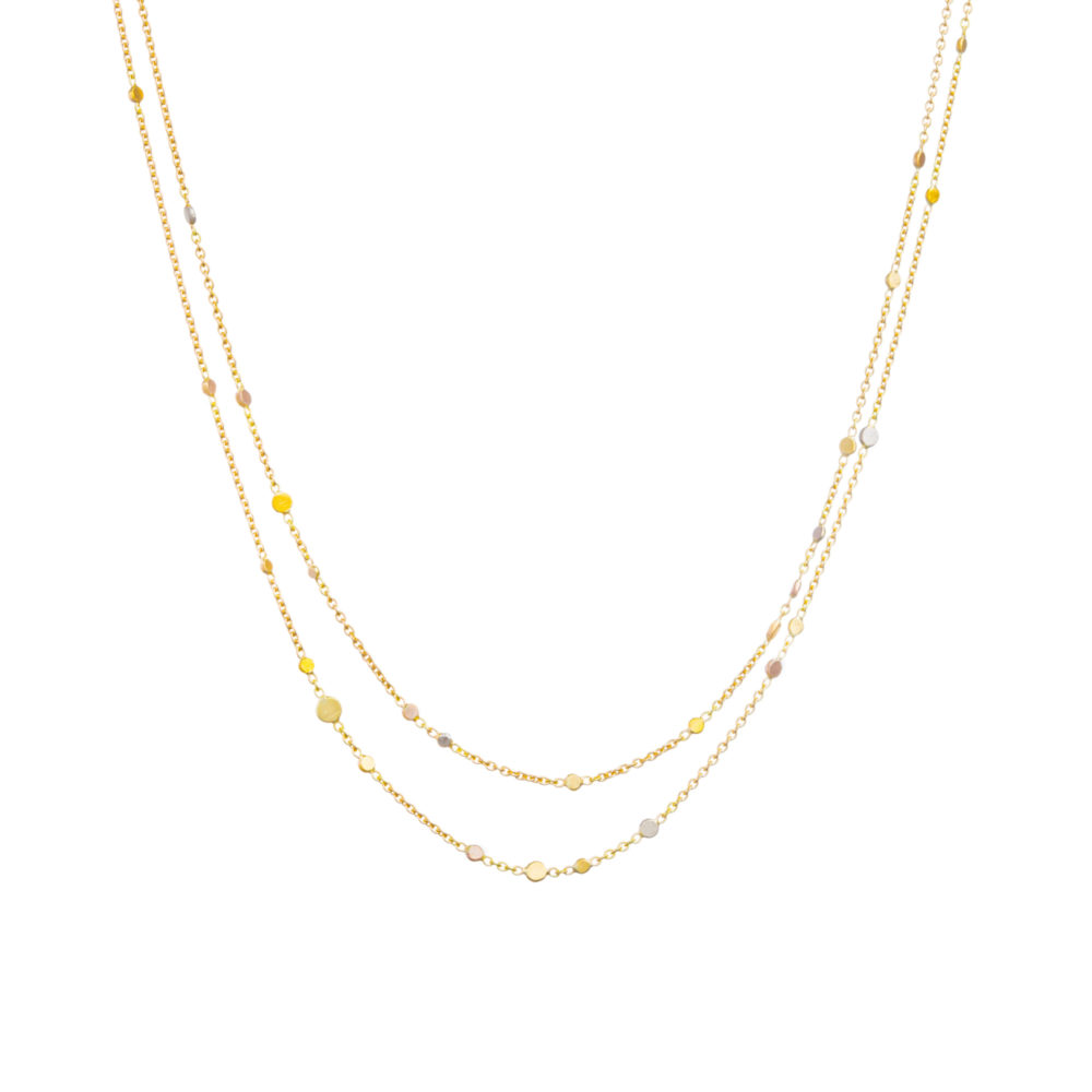 Sia Taylor SN5 RAIN Rainbow Gold Dust Necklace WB