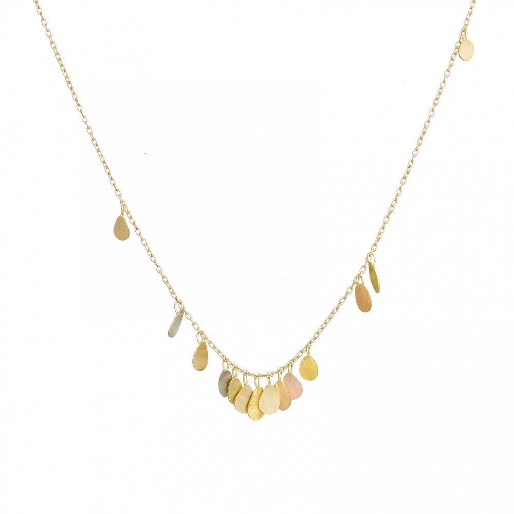 Sia Taylor TN2 YMIX Tiny Raindrop Gold Necklace WB