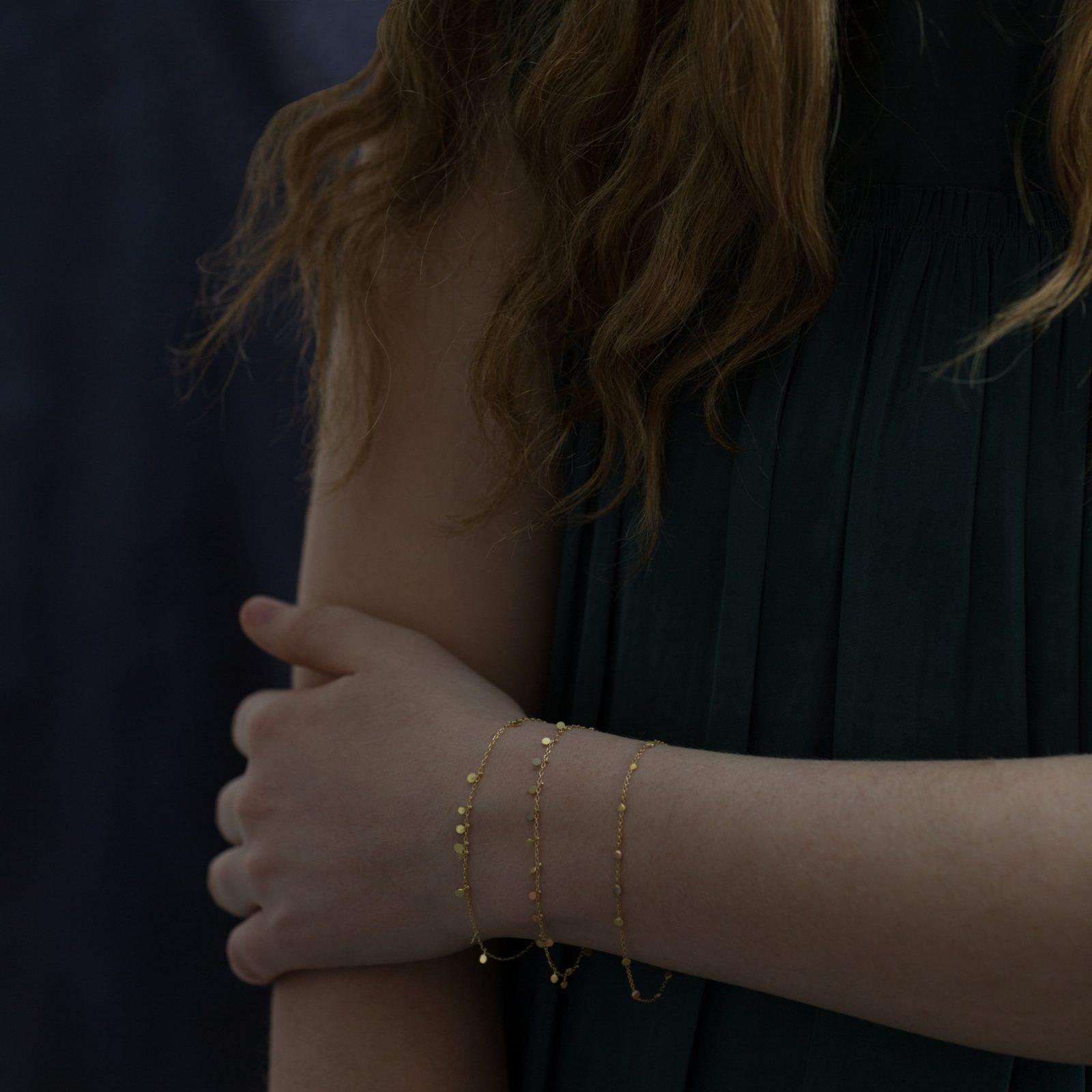 Sia Taylor DB3 Y Little Random Yellow Gold Dots Bracelets M