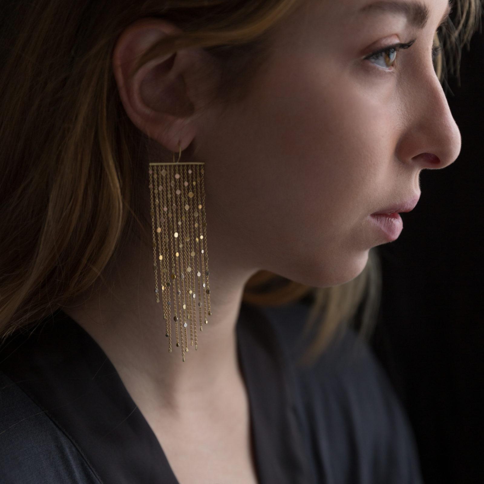 Sia Taylor DD2 Rainbow Gold Drifting Dust Earrings M2