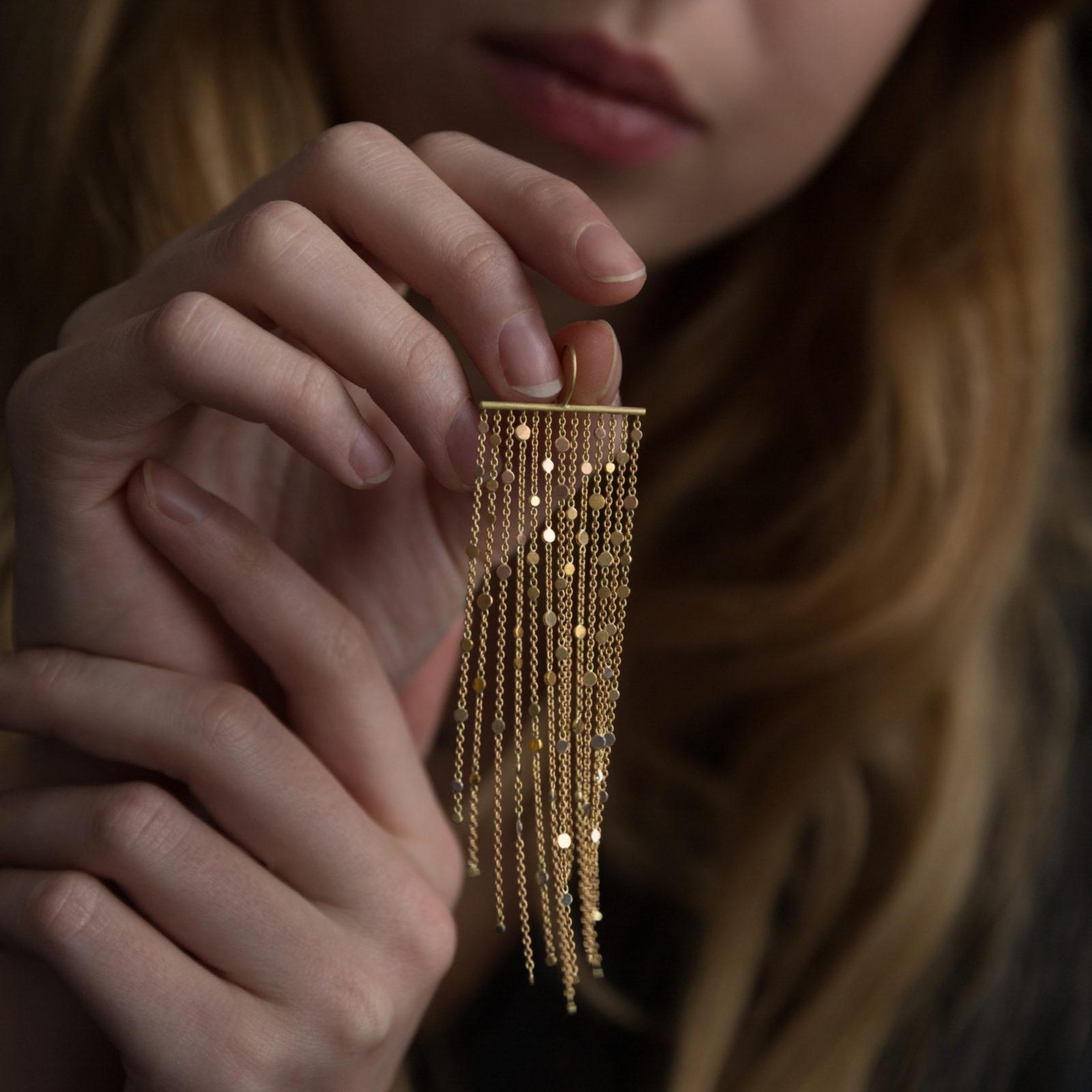 Sia Taylor DD2 Rainbow Gold Drifting Dust Earrings M3