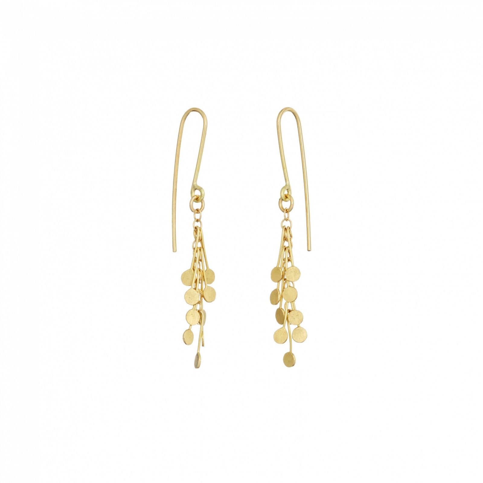 Sia Taylor DE24 Y Yellow Gold Dot Earrings WB