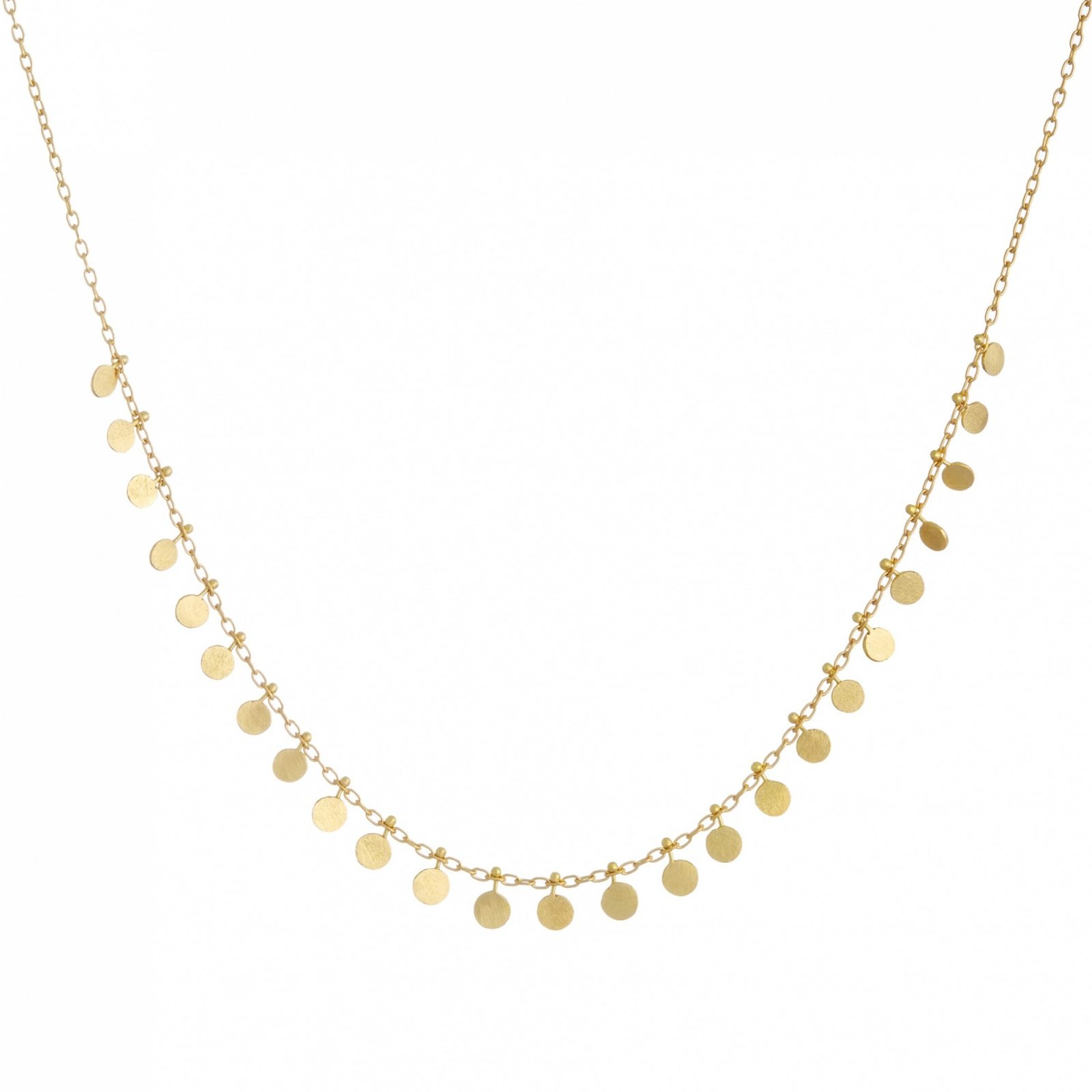 Sia Taylor DN11 Y Medium Yellow Gold Dots Necklace WB