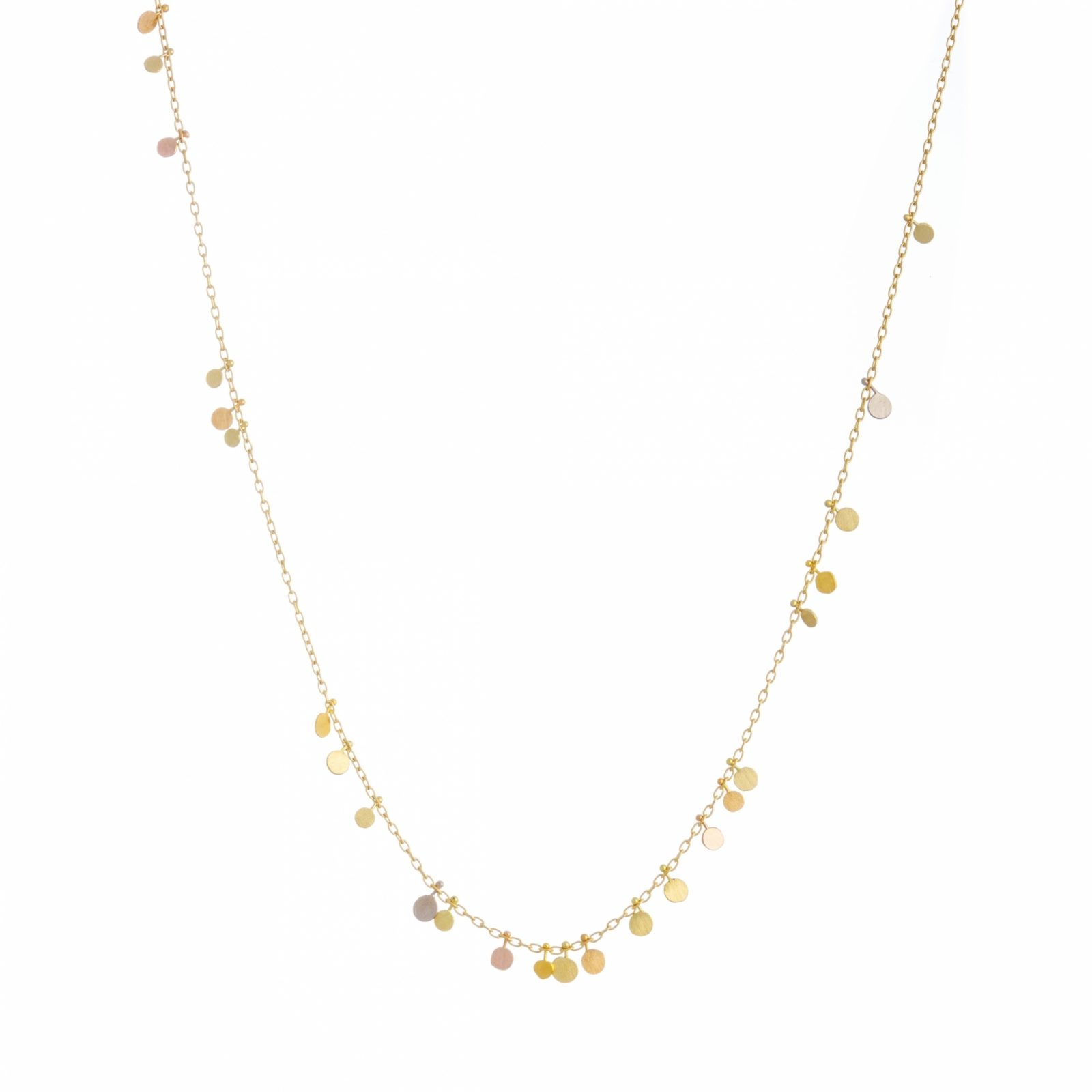 Sia Taylor DN220 YRAIN Rainbow Gold Random Dots Necklace WB
