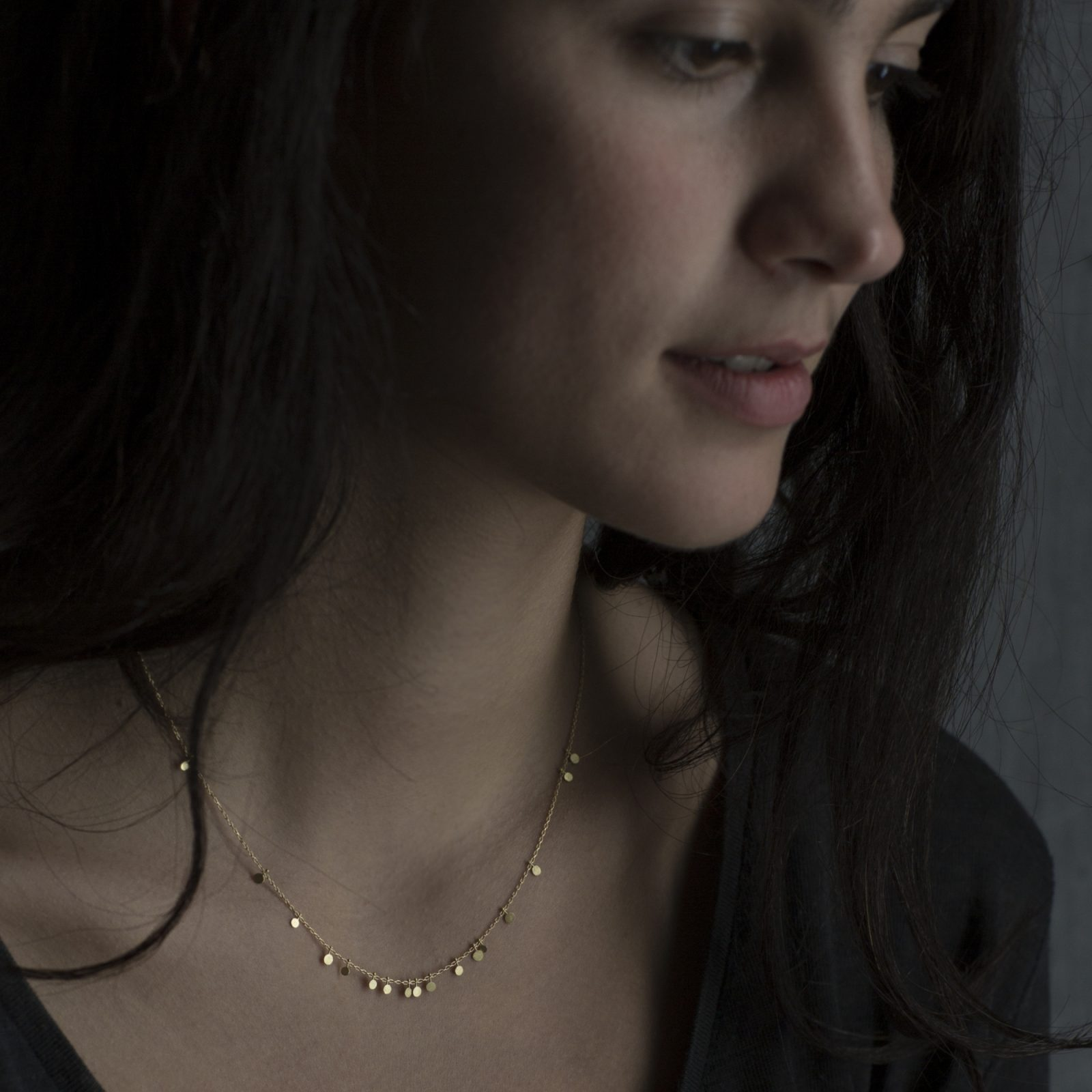 Sia Taylor DN321 Y Tiny Random Yellow Gold Dots Necklace M