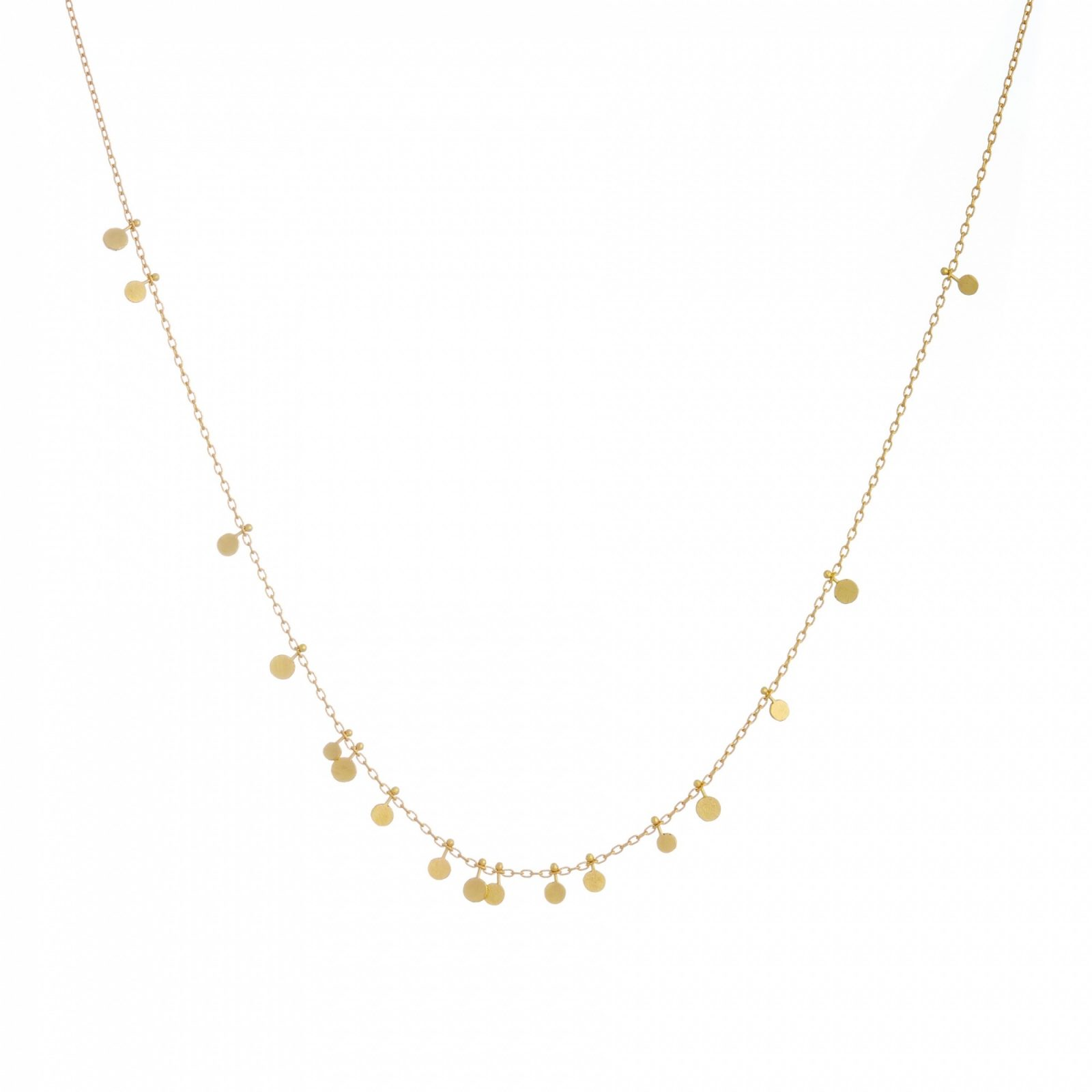Sia Taylor DN321 Y Tiny Random Yellow Gold Dots Necklace WB