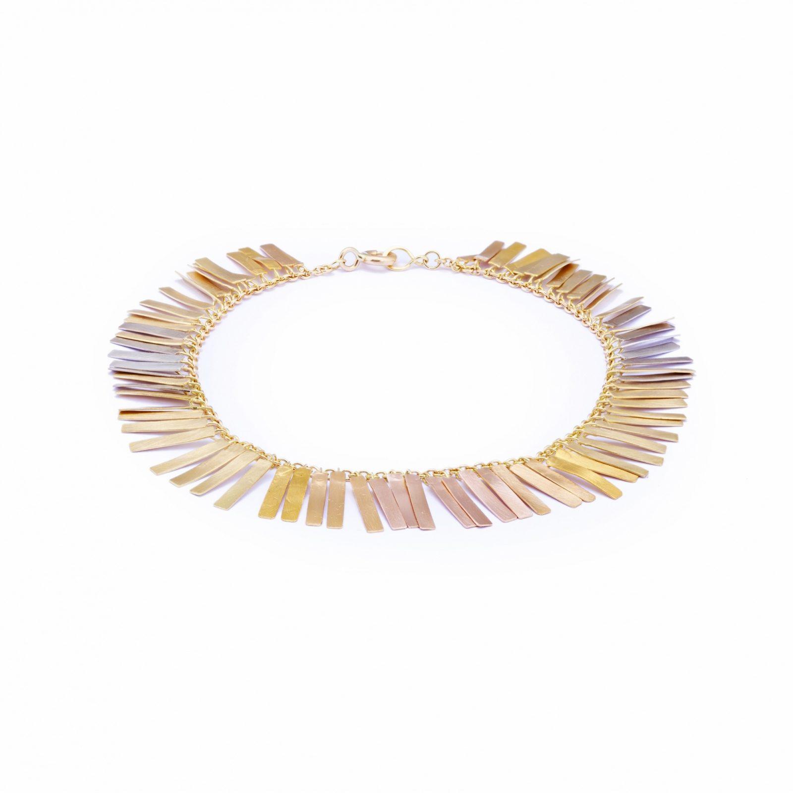 Sia Taylor KB1 RAIN Rainbow Gold Sunset Fringe Bracelet WB