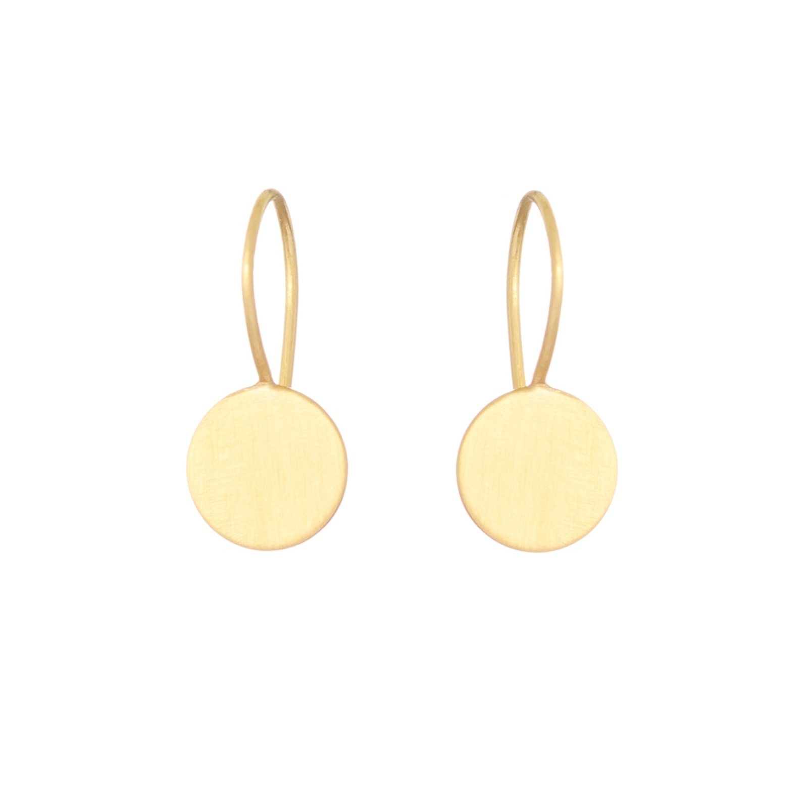 Sia Taylor KE15 Y Yellow Gold 8mm Moon Drop Earring WB