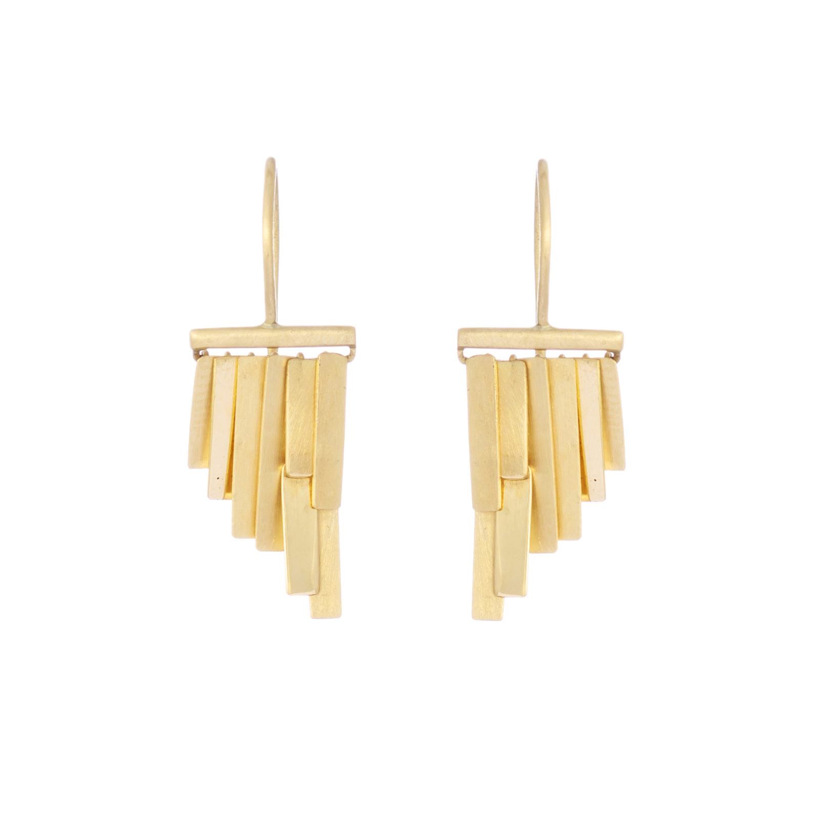 Sia Taylor KE33 Y Yellow Gold Tiny Rainfall Earrings W