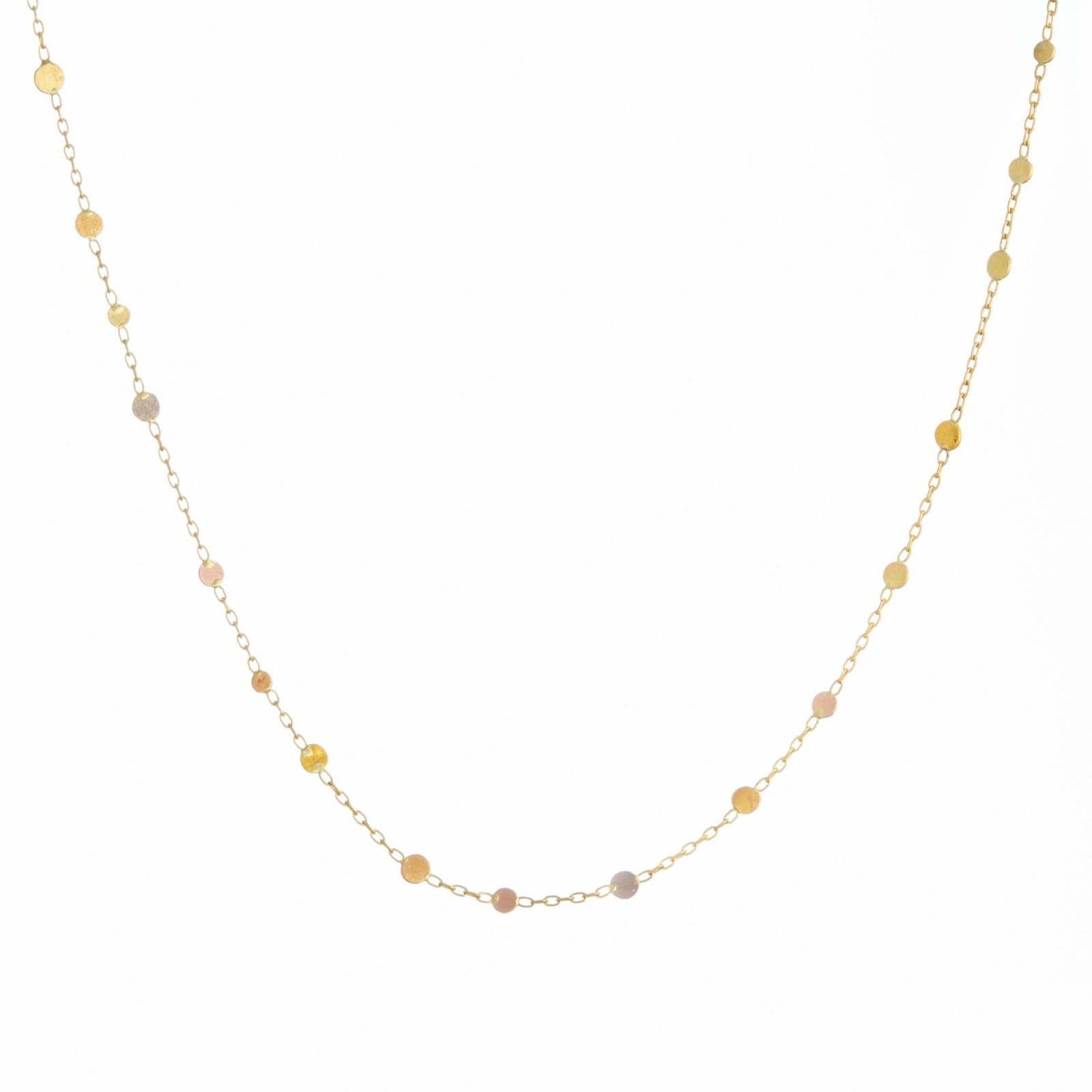 Sia Taylor KN18 YRAIN Rainbow Scattered Dots Necklace WB