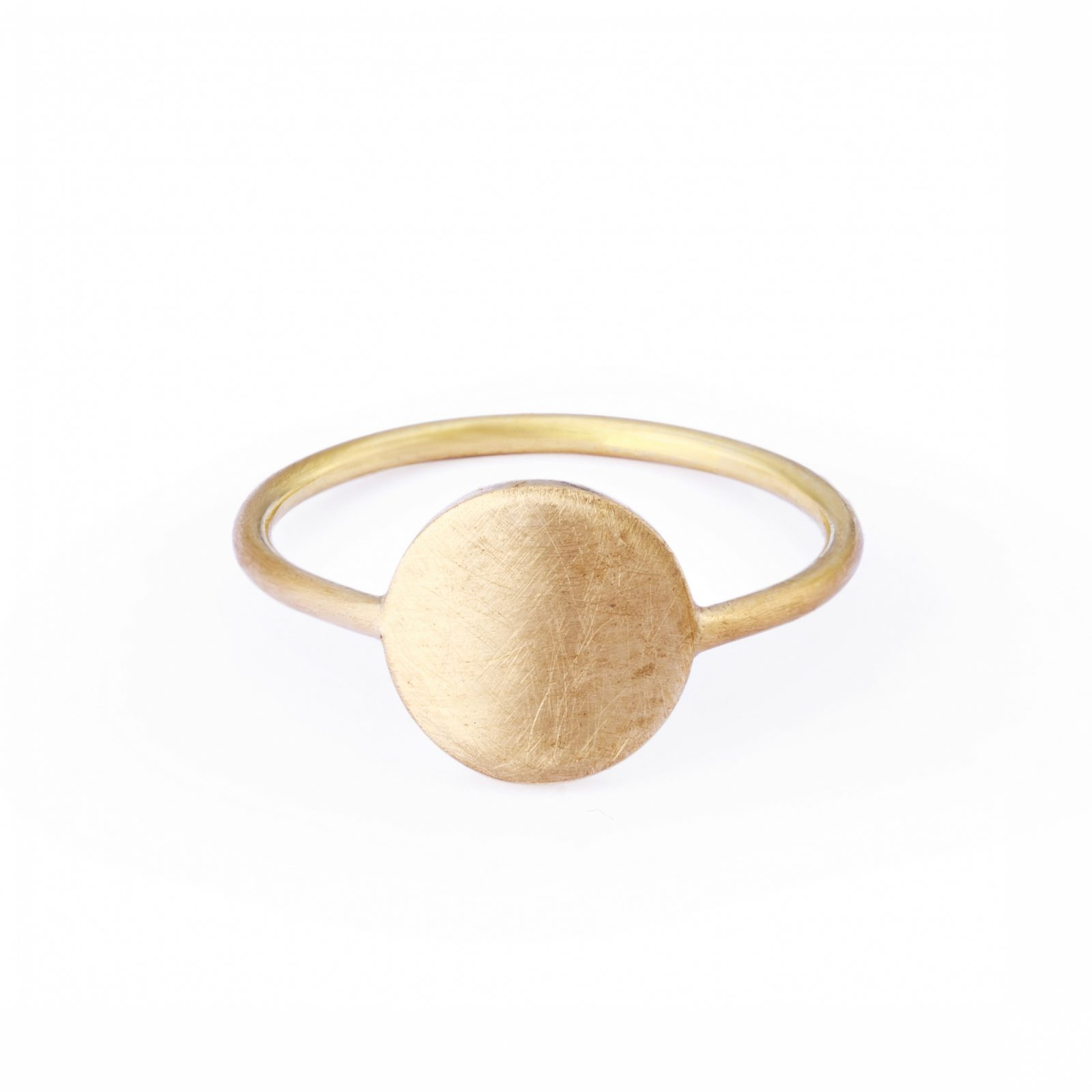 Sia Taylor KR2 Y Yellow Gold 8mm Moon Ring WB