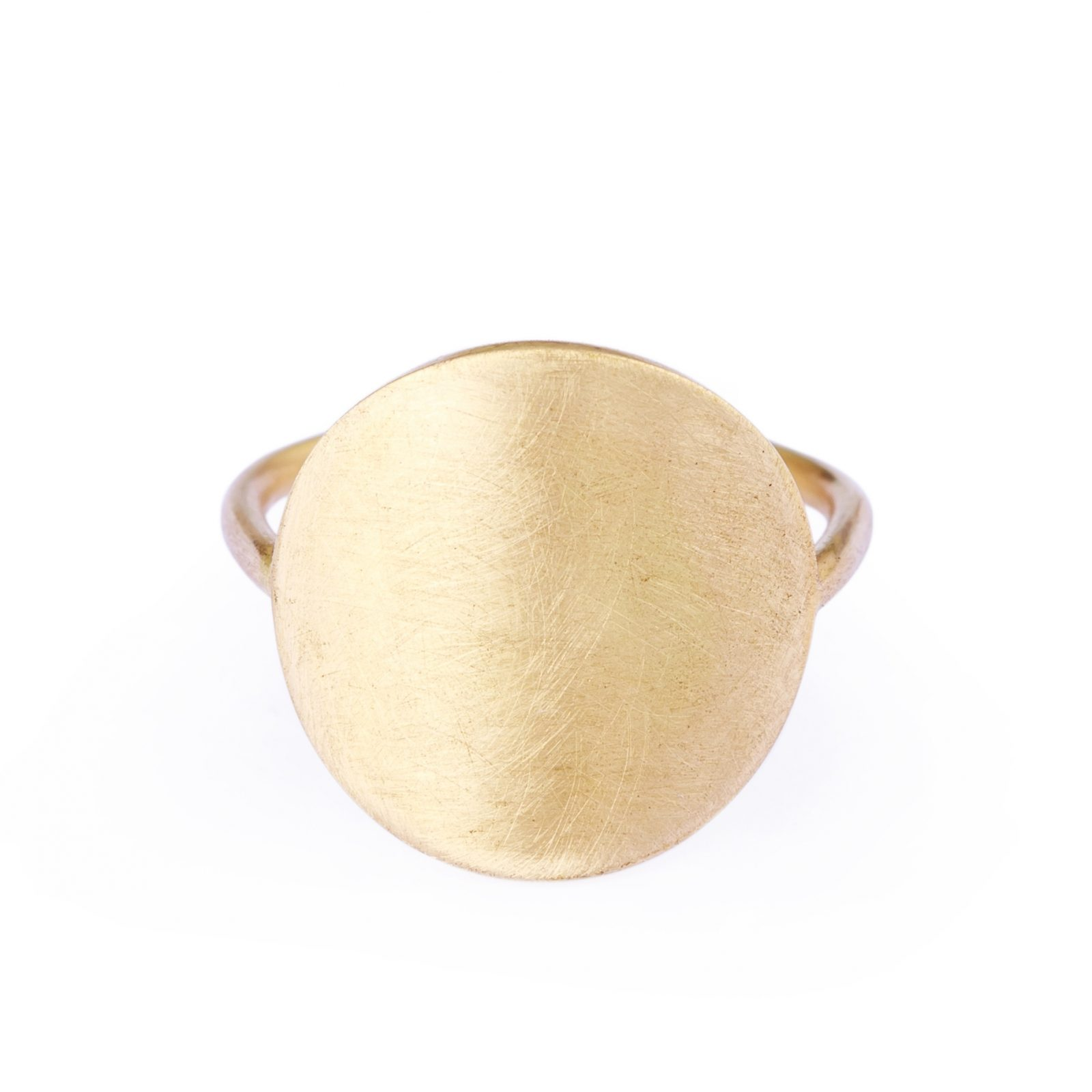 Sia Taylor KR4 Y Yellow Gold 15mm Moon Ring WB