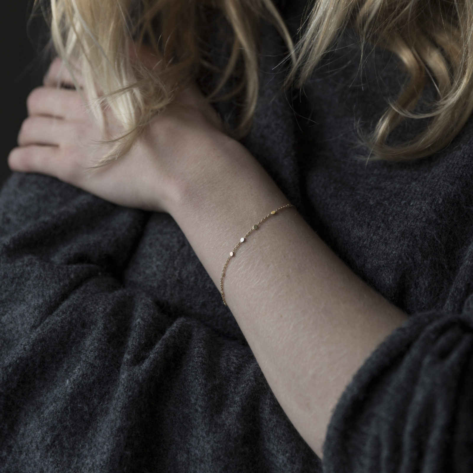 Sia Taylor SB1 YWP Gold Platinum Scattered Dust Bracelet M