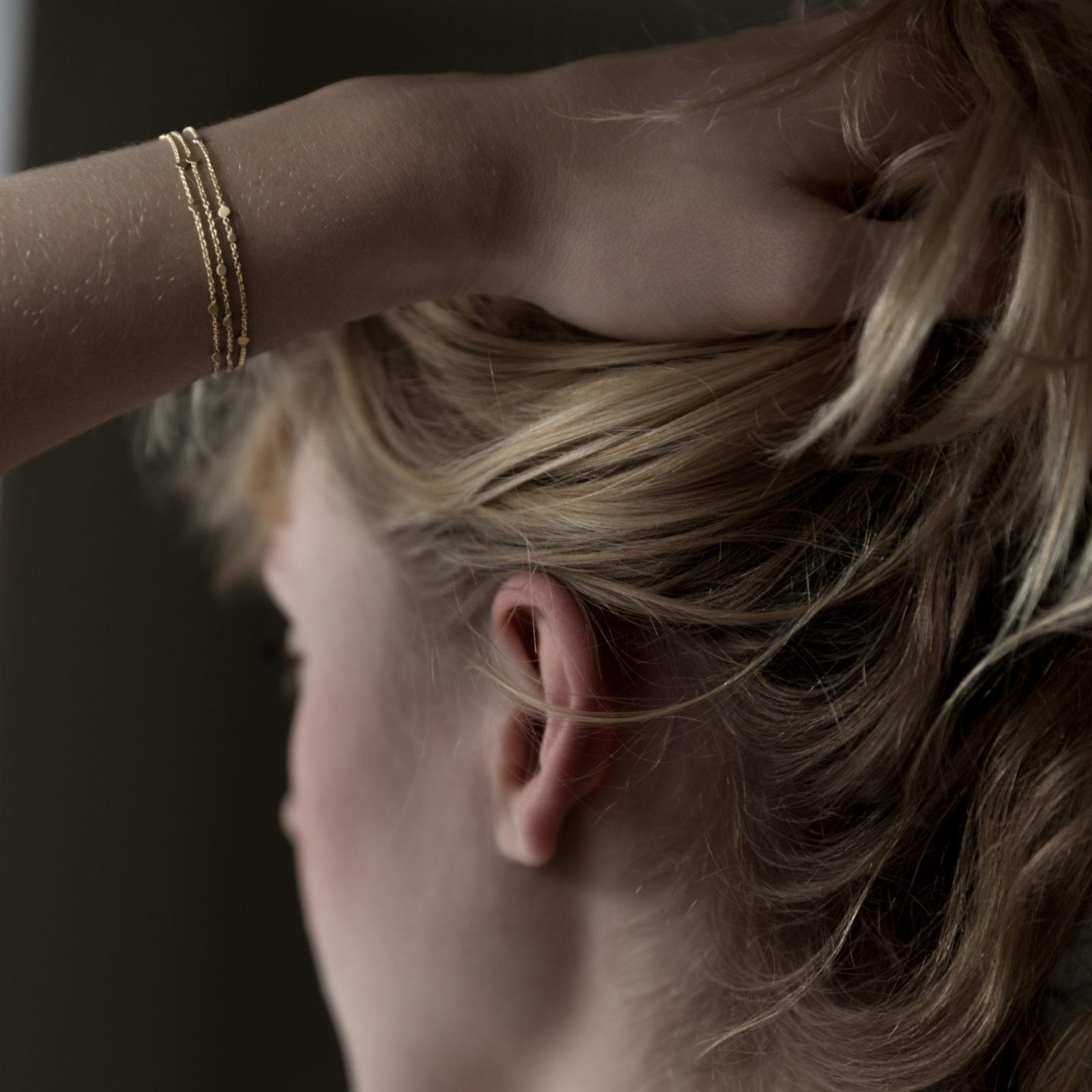 Sia Taylor SB2 Y Yellow Gold Falling Dust Bracelet M