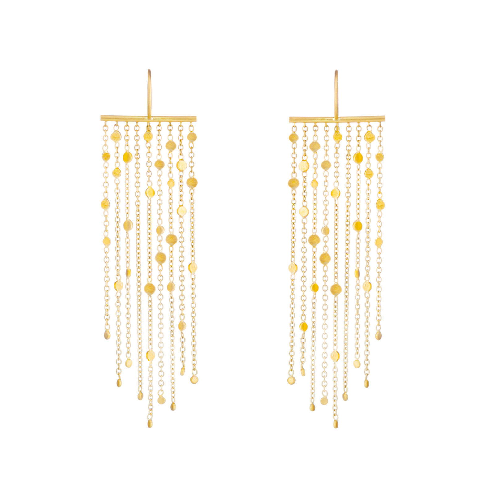 Sia Taylor SE1 Y Yellow Gold Falling Dust 9 Strand Earring WB