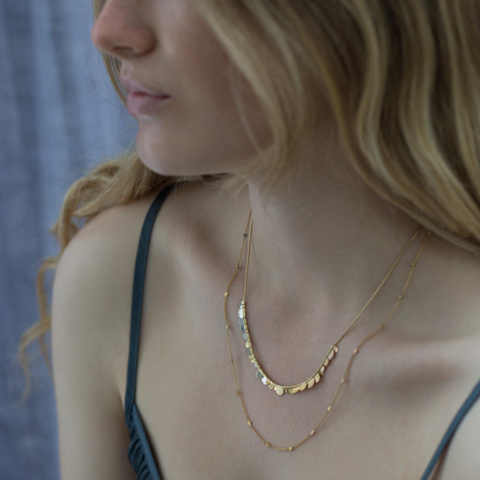 Sia Taylor SN4 RAIN Rainbow Gold Dust Necklace M