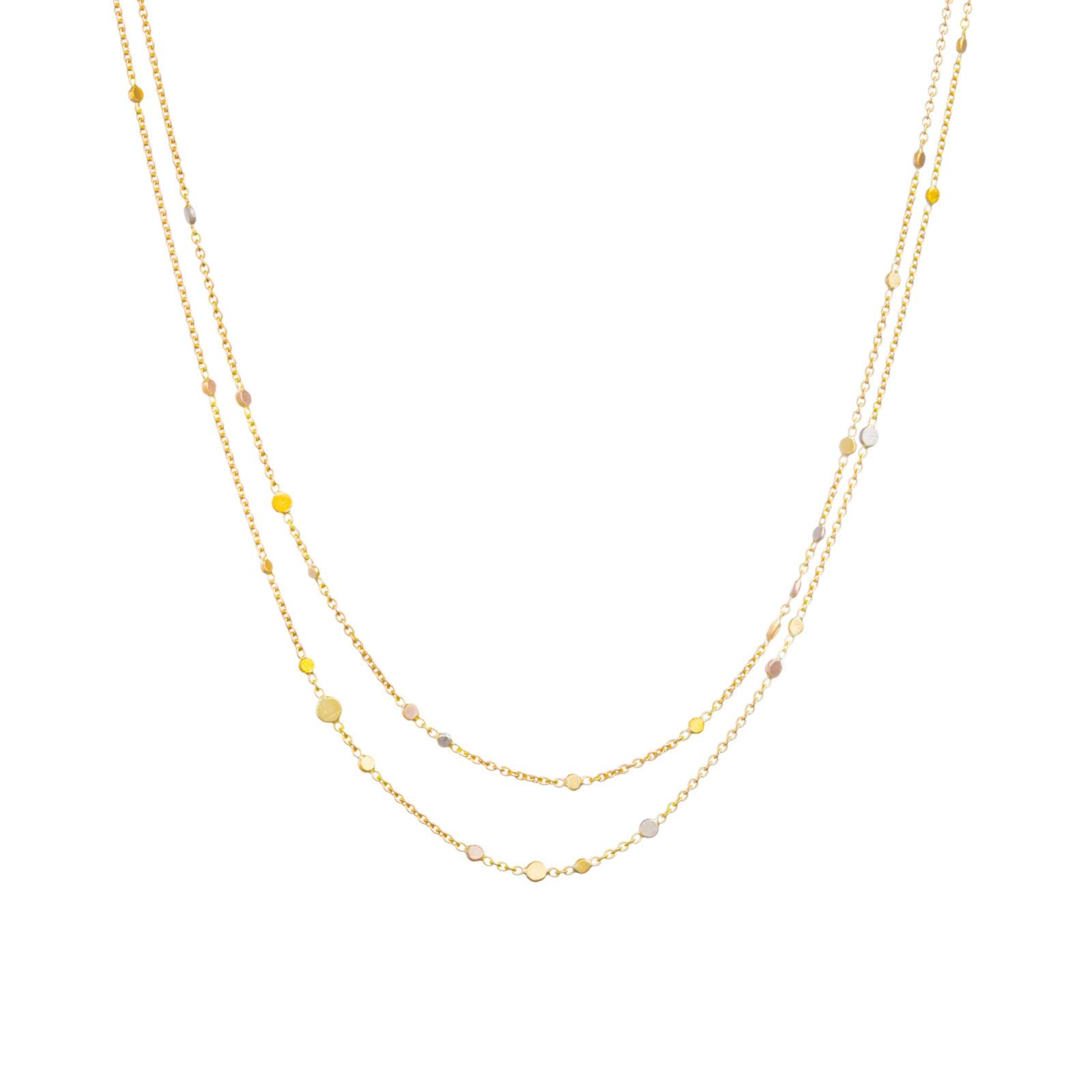 Sia Taylor SN5 RAIN Rainbow Gold Dust Necklace WB