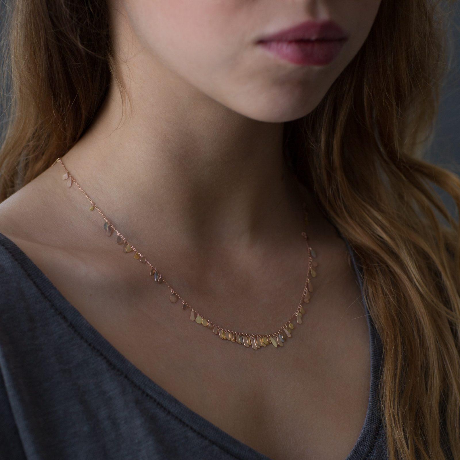 Sia Taylor TN1 RMIX Raindrop Gold Necklace M