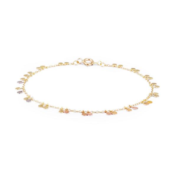 Sia Taylor DB6 RAIN Rainbow Gold Tiny Double Dots Bracelet WB