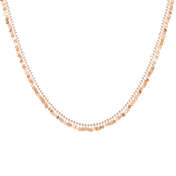 Sia Taylor DN300 R Full Yellow Gold Dot Necklace WB