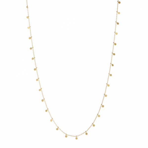 Sia Taylor DN302 Y Yellow Gold Long Dot Necklace WB