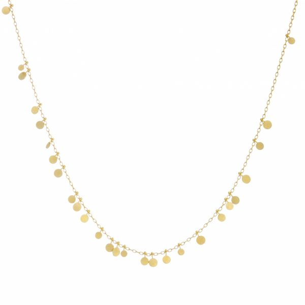Sia Taylor DN31 Y Random Yellow Gold Dots Necklace WB