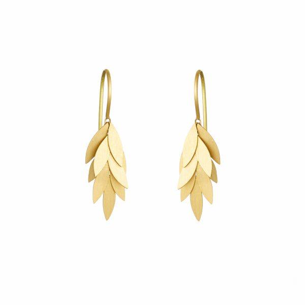 Sia Taylor KE23 Y Small Golden Leaf Earring WB