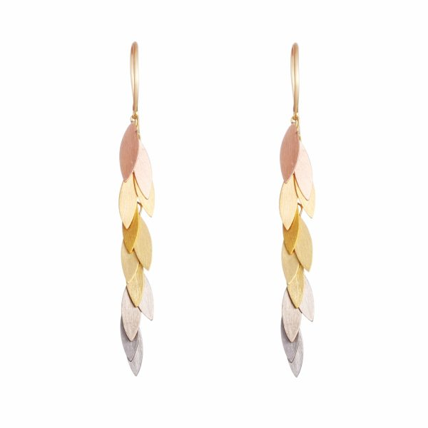Sia Taylor KE36 RAIN Rainbow Leaf Earring WB